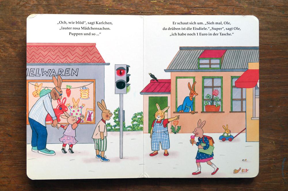 So unnötig wie unverständlich: Karlchen und der Sexismus (Foto der entsprechenden Kinderbuchpassage)