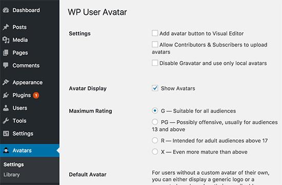 wpuseravatar-settings