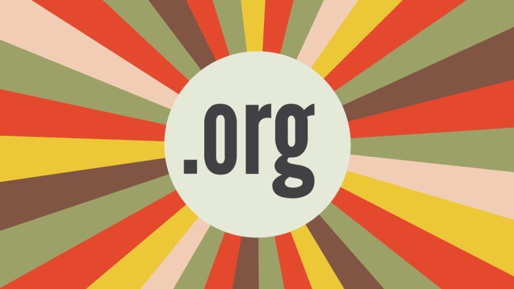 """Die Buchstaben """".org"""" inmitten eines bunten Strahlenkranzes"""